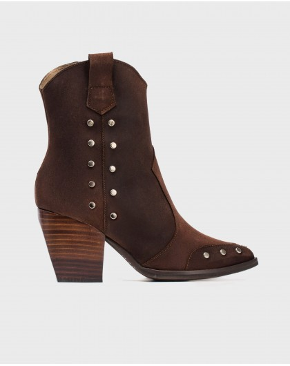 Wonders-Ankle Boots-Ankle boot with metallic detail
