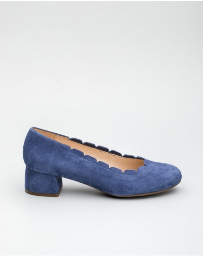 Wonders-Outlet-Leather loafer with brogue detail
