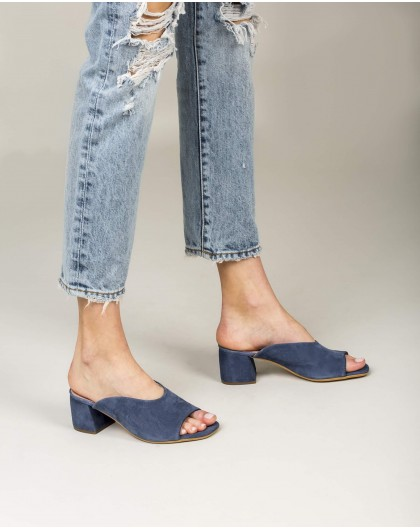 Wonders-Outlet-Suede leather mule