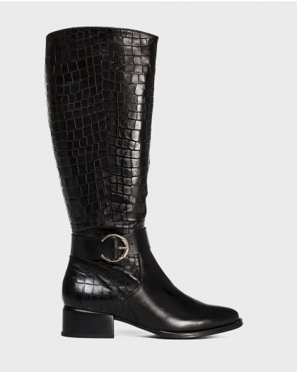 Wonders-Boots-Leather boot with buckle detail