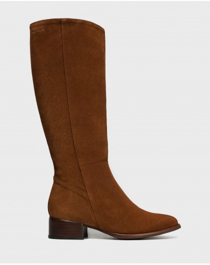 Wonders-Boots-Classic suede leather boot
