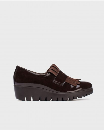Wonders-Wedges-Leather moccasin