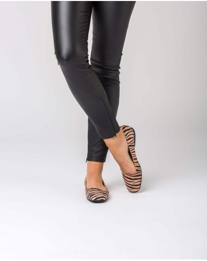 Wonders-Flat Shoes-Zebra print ballet pump
