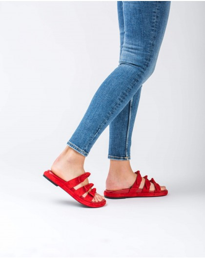Wonders-Flat Shoes-Flat sandals with bows