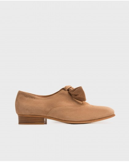 Wonders-Flat Shoes-Masculine shoe with bow