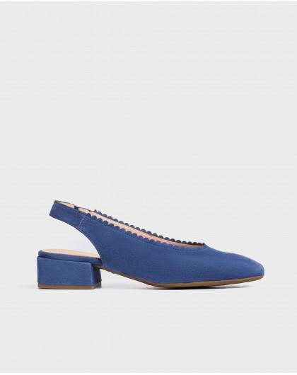 Wonders-Flat Shoes-shoe with a semi-circle cut detail