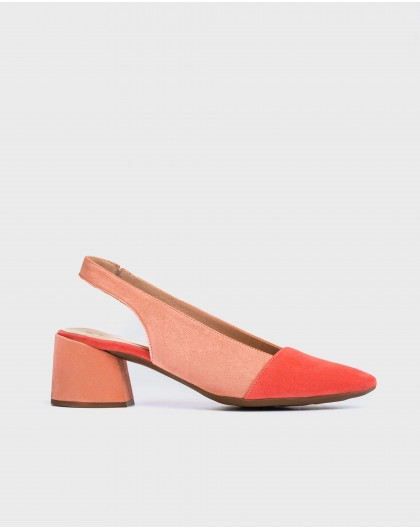 Wonders-Heels-Leather two-tone shoes