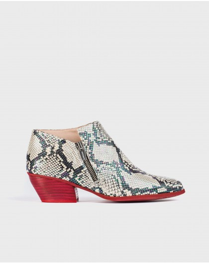 Wonders-Outlet-Animal print ankle boot