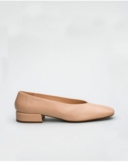 Wonders-Outlet-Leather ballet pump with a square toe