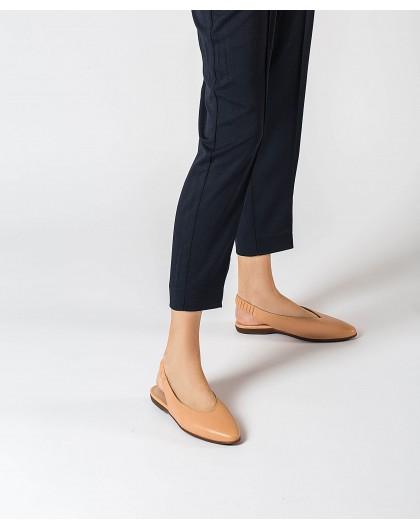 Wonders-Flat Shoes-Leather slingback sandal