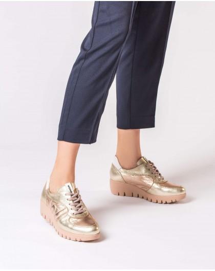 Wonders-Wedges-Leather platform sneaker