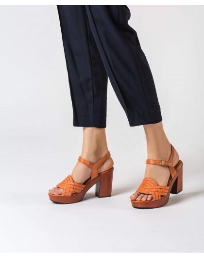 Wonders-Outlet-Platform sandal with plait