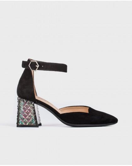 Wonders-Outlet-Shoe with jewel heel