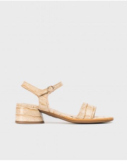 Wonders-Outlet-Mock croc leather sandal