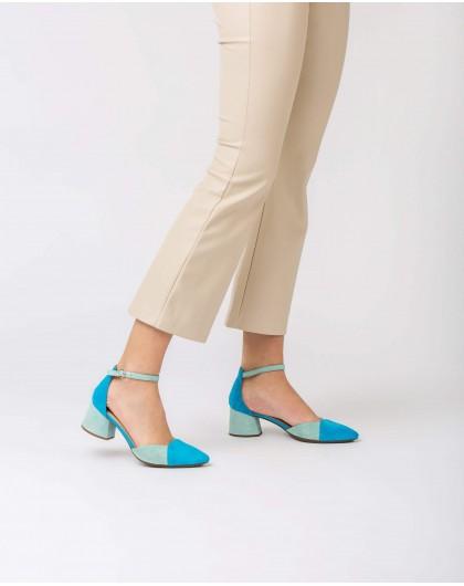 Wonders-Heels-Two-tone suede leather shoe