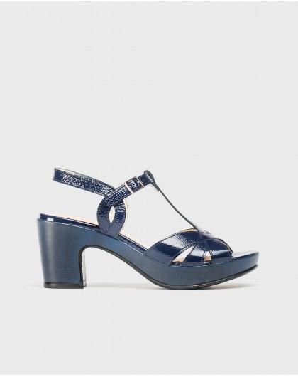 Wonders-Heels-Platform sandal with straps