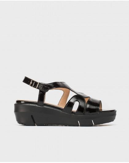 Wonders-Sandals-Patent strappy sandal