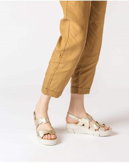 Wonders-Sandals-Wavy leather sandal