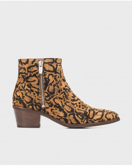 Wonders-Ankle Boots-Cowboy print ankle boot