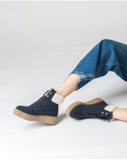 Wonders-Ankle Boots-Eco ankle boot with shoelaces
