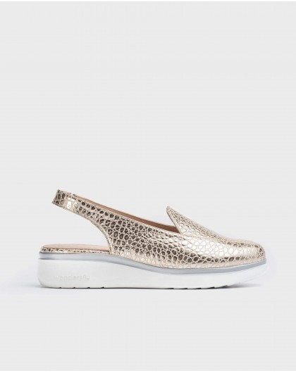Wonders-Flat Shoes-Backless leather shoe