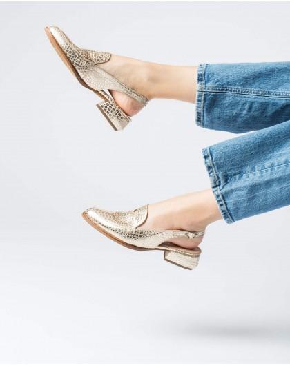 Wonders-Flat Shoes-Geometric cut shoe