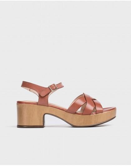 Wonders-Sandals-Plaited platform sandal