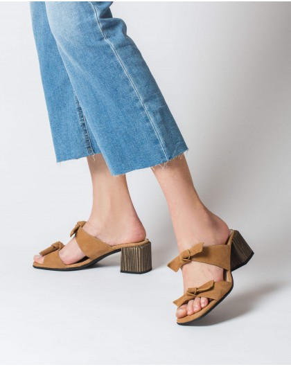 Wonders-Heels-High heeled bow sandal