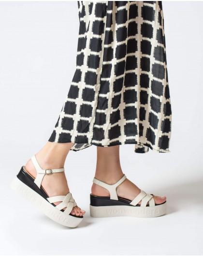 Wonders-Sandals-Crossover platform sandal