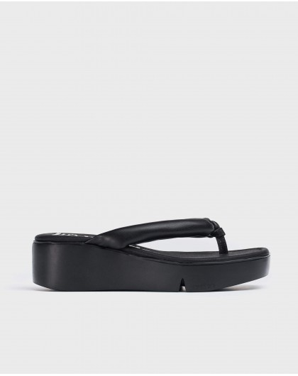 Wonders-Sandals-flip-flop style platform sandal