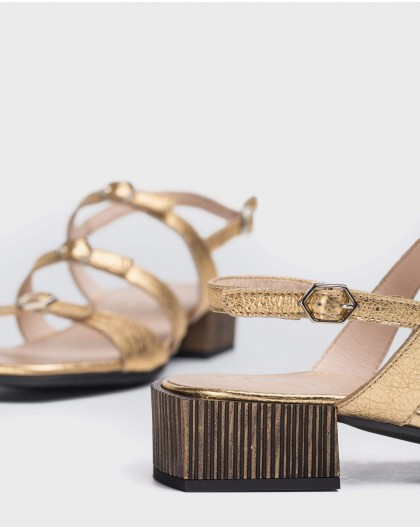 Wonders-Flat Shoes-High heeled sandal with buckles