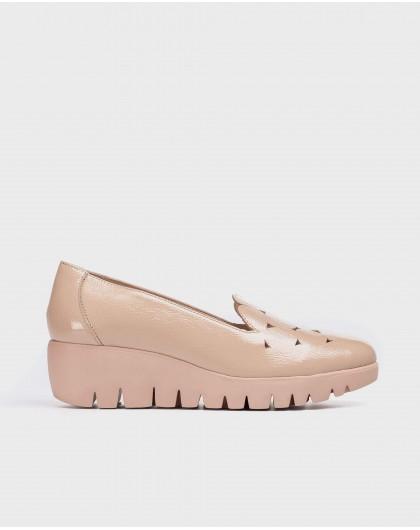 Wonders-Wedges-Geometric leather shoe