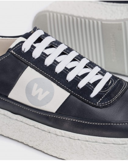 Wonders-Sneakers-Leather sneaker with laces