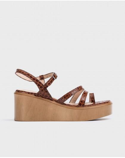 Wonders-Wedges-Platform sandal with toe post