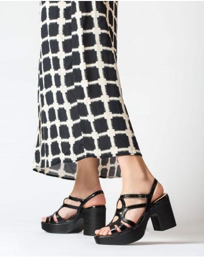 Wonders-Heels-Sandal with circles