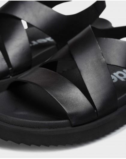 Wonders-Ready to wear-Leather sandal with cross over straps