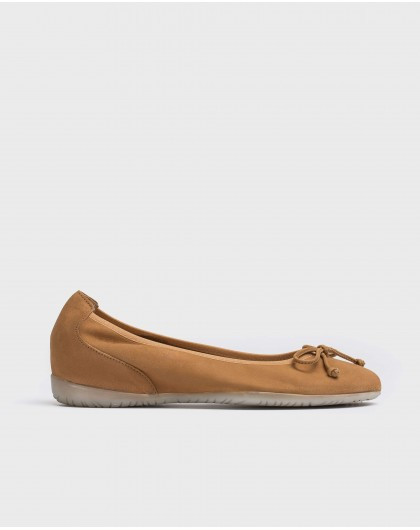 Wonders-Flat Shoes-Ballet pump with bow detail