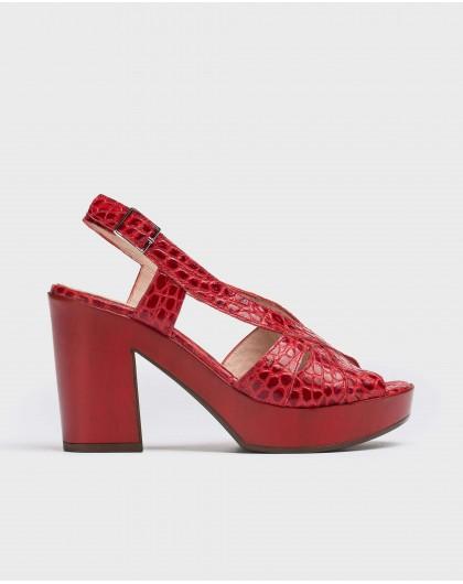 Wonders-Heels-Peep-toes platform sandal