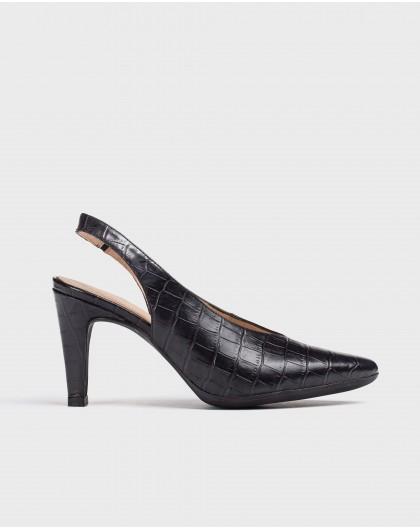 Wonders-Outlet-Backless Mock-croc shoe