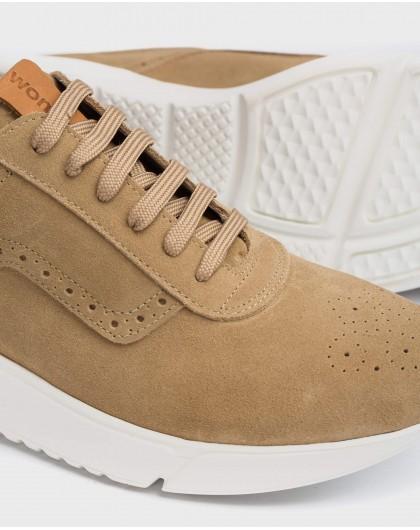 Wonders-Men-Perforated leather sneaker