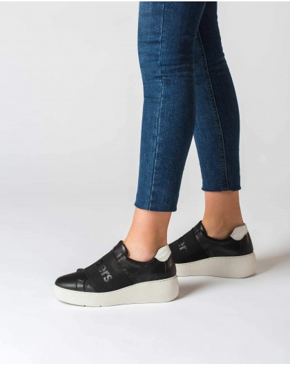 Wonders-Outlet-Leather sneaker with elastic band