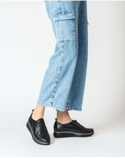 Wonders-Flat Shoes-Black Mer Sneaker