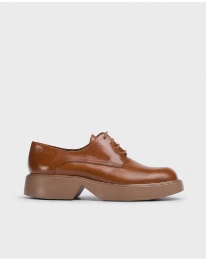 Wonders-Flat Shoes-Brown Sonic Blucher