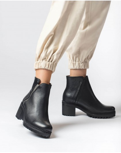 Wonders-Ankle Boots-Black Cleo Ankle Boot