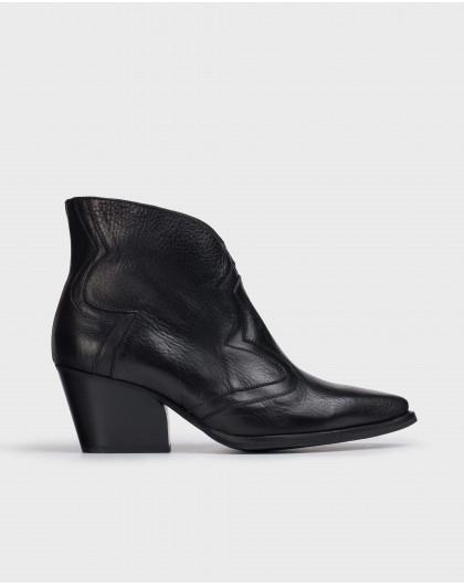 Wonders-Ankle Boots-Black Juarez Ankle Boot