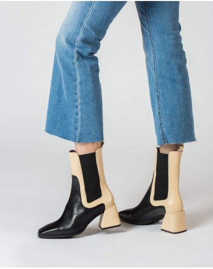 Wonders-Ankle Boots-Two-tone Tote Ankle Boot