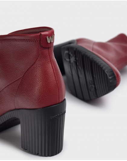 Wonders-Ankle Boots-Red Lycra Jess Ankle Boot