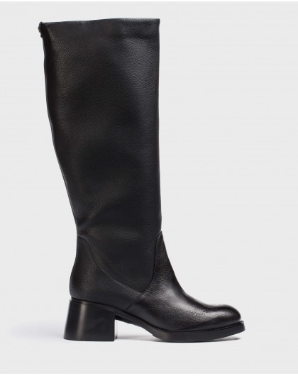 Wonders-Boots-Black L.A Boot
