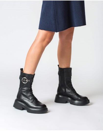 Wonders-Ankle Boots-Black Punk Boot