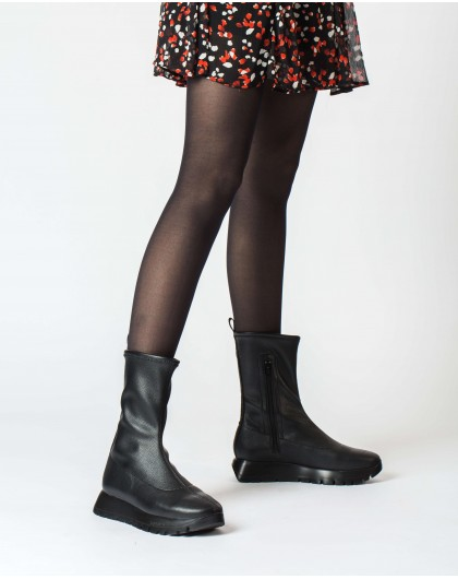 Wonders-Ankle Boots-Black Schei Ankle Boot